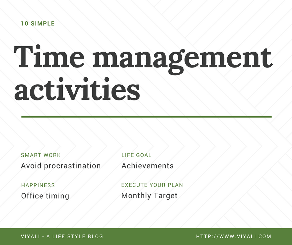10 simple time management activities