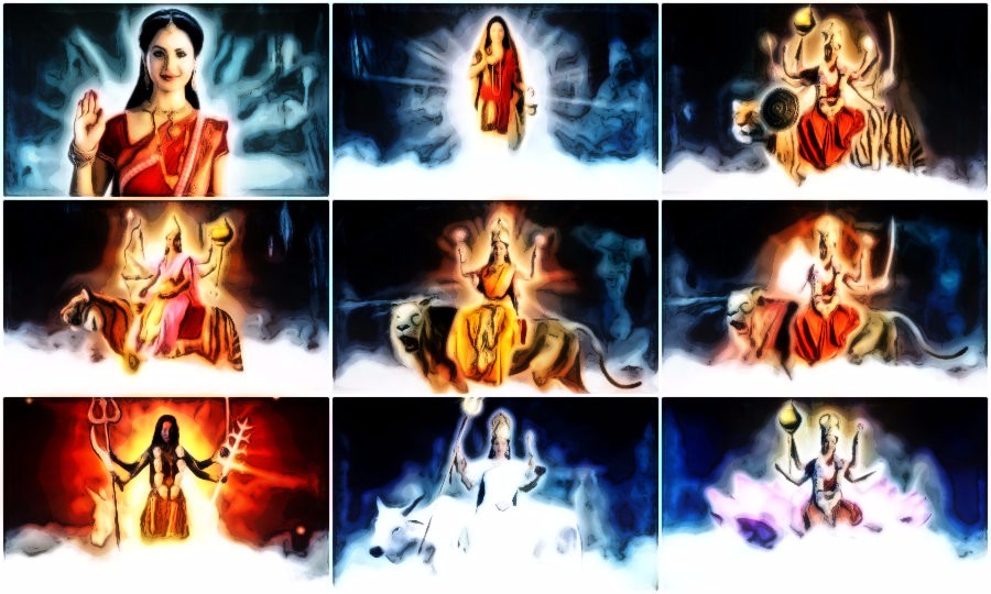 Navdurga is the 9 forms of Devi Durga worshiped in Navratri